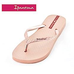 IPANEMA GLAM系列 經典炫彩人字拖鞋-粉橘色