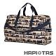 【HAPI+TAS】女孩小物折疊旅行袋(大)-倫敦風情米色