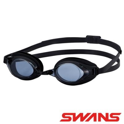 【SWANS 日本】光學通用型泳鏡(防霧/抗UV/矽膠/SR-2N黑)