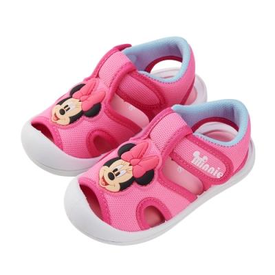 迪士尼童鞋 米妮 立體造型護趾涼鞋-桃(柏睿鞋業)
