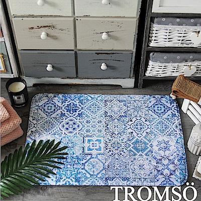 TROMSO 簡單生活超柔軟地墊-M93藍調美花磚