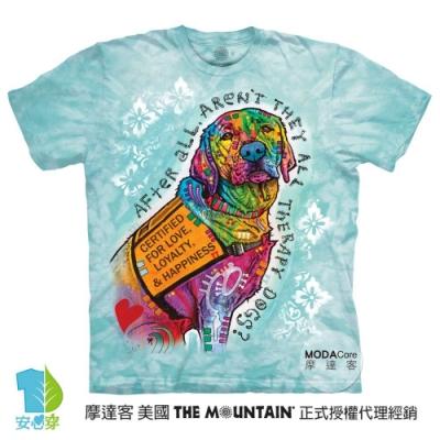 摩達客-美國進口The Mountain 彩繪認證愛犬 純棉環保藝術中性短袖T恤