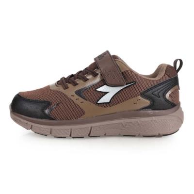 DIADORA 男段健走鞋-慢跑 路跑 咖啡黑