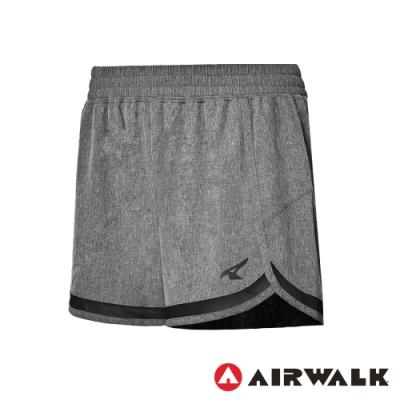 【AIRWALK】彈性運動短褲-女-灰