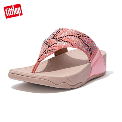 FitFlop LULU CRYSTAL FEATHER TOE POST SANDALS 水鑽夾腳涼鞋 女(柔和粉)