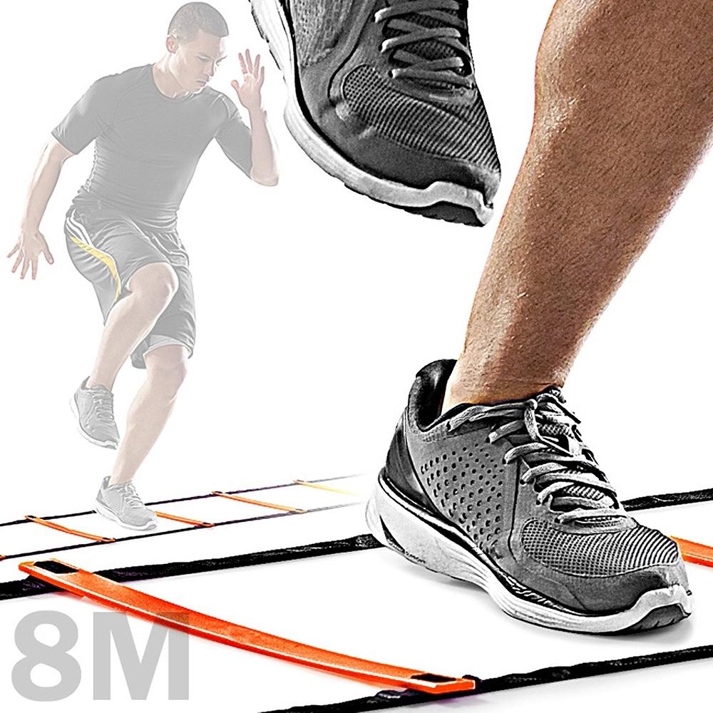 靈敏步伐梯8M敏捷梯(8公尺跳格步梯速度梯繩梯/8米能量梯跳格梯跳格子/田徑跨欄跑步足球訓練梯子)
