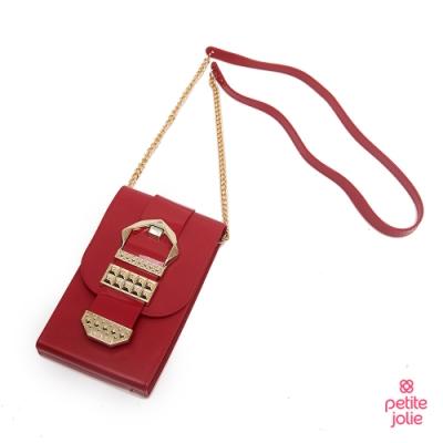 Petite Jolie--復古金屬扣飾果凍相機包-紅色