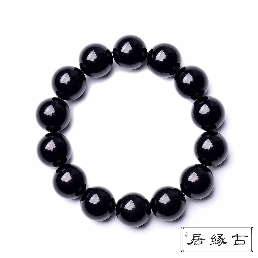 古緣居 黑曜石佛珠/手鍊( 14mm)