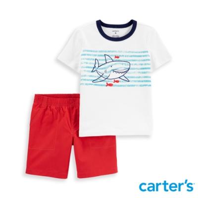 【Carter s】 微笑鯊純棉衣褲兩件組 (2T-5T) 任選 (台灣總代理)