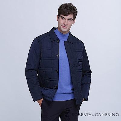 ROBERTA諾貝達 時尚型男 內裡舖棉夾克外套 深藍