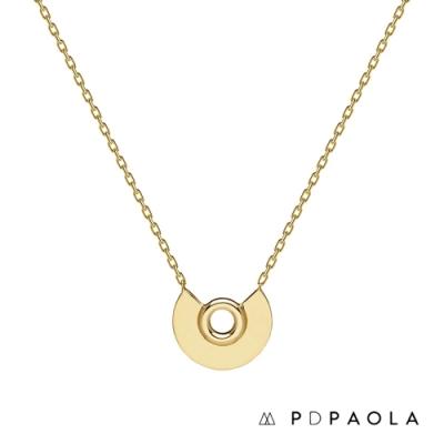 PD PAOLA 西班牙輕奢時尚品牌 Bardot Gold 知性鏤空鍍18K金項鍊