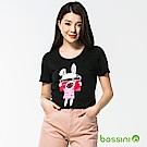 bossini女裝-印花短袖T恤55黑