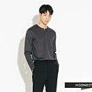 H:CONNECT 韓國品牌 男裝-簡約開岔素面上衣-灰