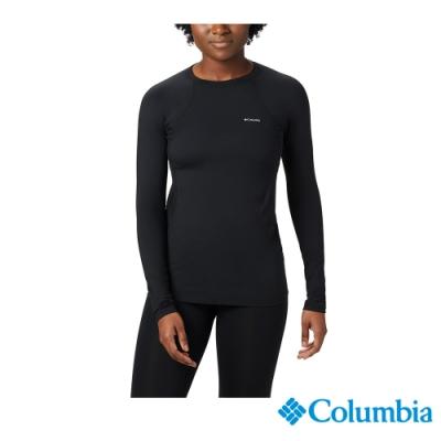 Columbia 哥倫比亞 女款- Omni-HEAT保暖快排內著上衣-黑色
