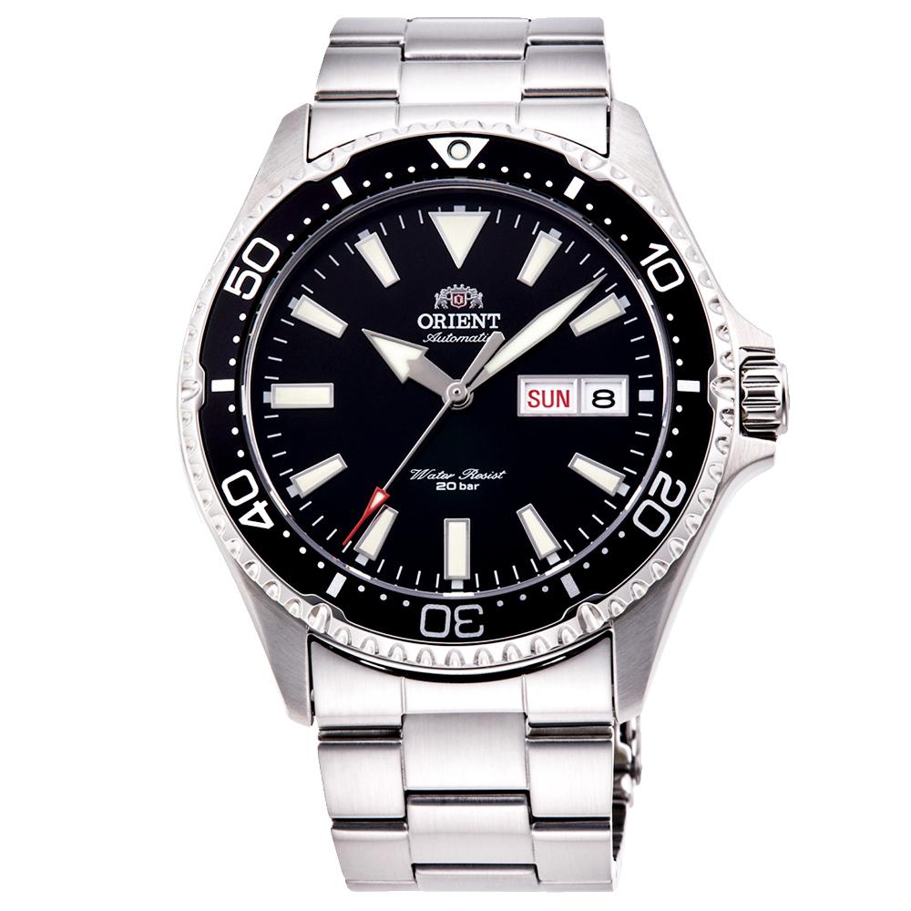 ORIENT東方200m潛水機械錶手錶RA-AA0001B-黑X銀/41.8mm