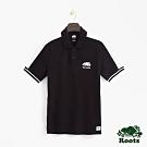 男裝Roots 加拿大系列短袖POLO衫-黑