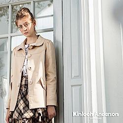 【Kinloch Anderson 金安德森女裝】小圓領剪接蕾絲上衣