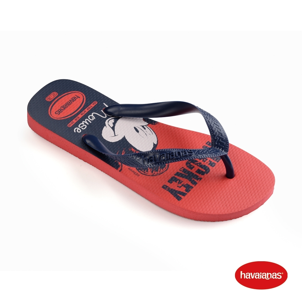 Havaianas 哈瓦仕 拖鞋 夾腳拖 人字拖 巴西 男女鞋 紅/海軍藍 4139412-1636U Disney 迪士尼 Top