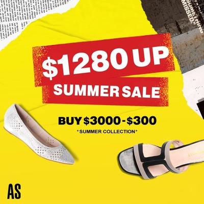 AS集團- Summer Sale 夏特賣1280起 滿3000再折$300