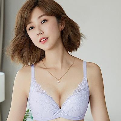 推Audrey-漫舞舒波AIR 大罩杯B-E罩內衣(花暮紫)