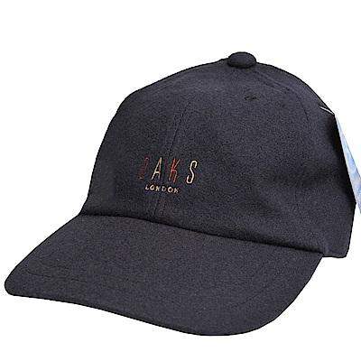 DAKS 日本製經典字母刺繡LOGO毛造型棒球帽(海軍藍色)