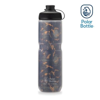 【Polar Bottle】24oz MUCK 雙層保冷噴射水壺 SHATTER 棕黑