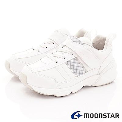 日本月星頂級童鞋 2E經典系列運動款 FI041白(中大童段)