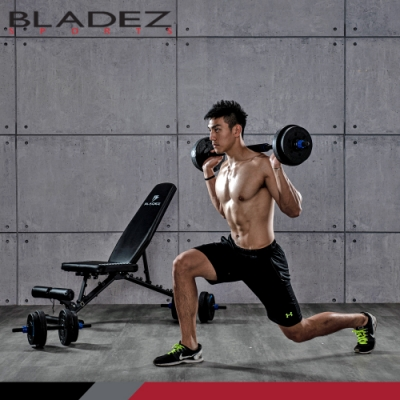 【BLADEZ】BW13-3.0可變式二頭彎舉臥推重訓椅+BD1-30KG槓啞鈴兩用超值組