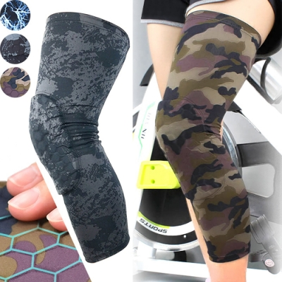 加長蜂窩墊防撞腿套    護膝蓋關節蜂巢式束腿套