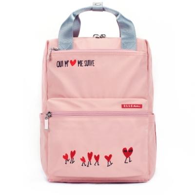 ELLE Active 熱愛追隨系列-手提後背包-粉紅色
