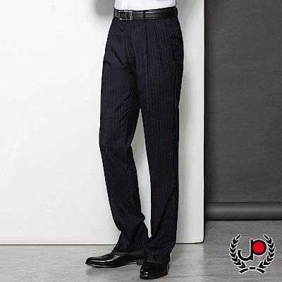 極品西服修身直條雙褶西褲_丈青(BS803-2)