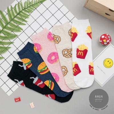 阿華有事嗎 韓國襪子 五個大食物中筒襪 韓妞必備長襪 正韓百搭純棉襪