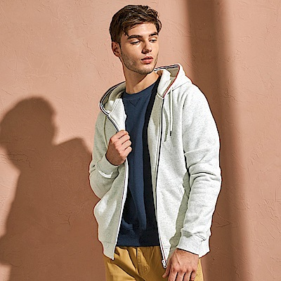 CACO-織帶刷毛外套-情侶款(兩色)-男【QAR051】