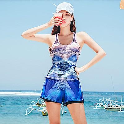 Biki比基尼妮泳衣 愛蜜莉運動泳衣泳裝比基尼泳衣(M-2XL)