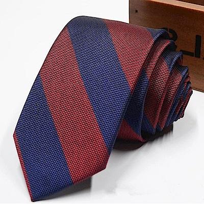 拉福   領帶窄版領帶倫敦6cm領帶拉鍊領帶(兒童藍紅)
