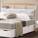文創集 曼特爾 現代5尺皮革雙人床頭箱(不含床底&床墊)-152x24x102cm免組