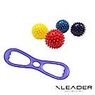 Leader X 8字彈力帶+刺蝟按摩球2入 肩頸紓緩神器