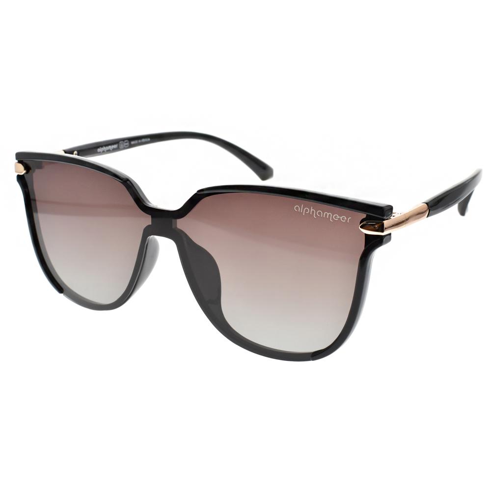Alphameer偏光太陽眼鏡 許瑋甯代言/黑-漸層棕#AM604 C4