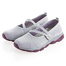 JMS-輕便防滑舒適透氣網布健走鞋-灰色