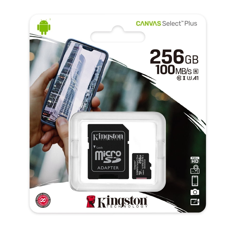 金士頓 KINGSTON SDCS2 MicroSDXC 100MB 256G U1 A1 記憶卡