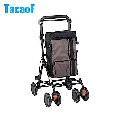 日本TacaoF幸和 時尚購物助步車-棕色