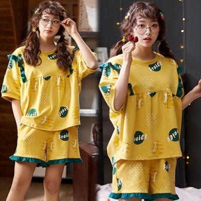 【韓國K.W.】(預購)完美自然荷葉邊甜美套裝褲-1色