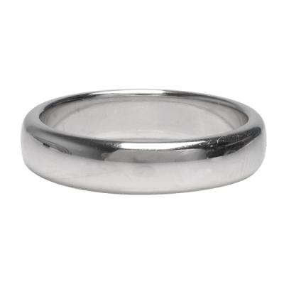 TIFFANY&Co. 經典品牌鉑金結婚戒指(銀)