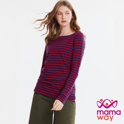 【mamaway 媽媽餵】基本款寬領哺乳T恤(共3色)