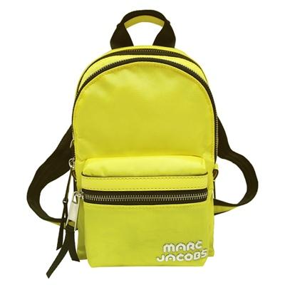 MARC JACOBS Trek Pack 雙拉鍊尼龍後背包-黃色(小)