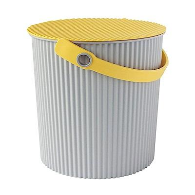 日本優秀設計獎賞HACHIMAN時尚L型10公升收納桶(黃色系)