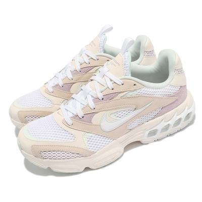 Nike 休閒鞋 Zoom Air Fire 運動 女鞋 氣墊 舒適 避震 簡約 球鞋 穿搭 米白 白 CW3876200