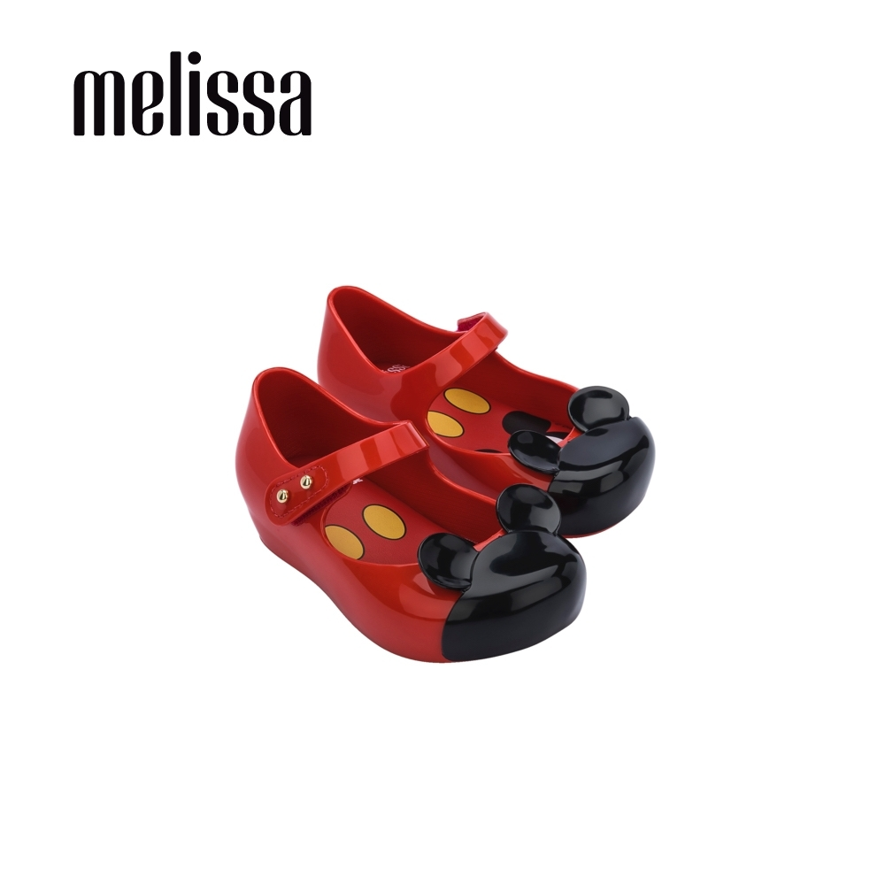 Melissa x MICKEY AND FRIENDS 蝴蝶結娃娃鞋 寶寶款-紅