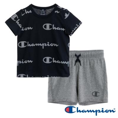 Champion EU小童短袖套裝 黑x灰