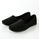 JMS-日系小清新素面平底休閒鞋-黑色